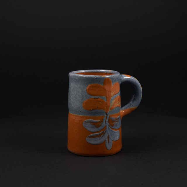Solivajsová, Zlata: malý ker. džbánik sivej a oranžovej farby
