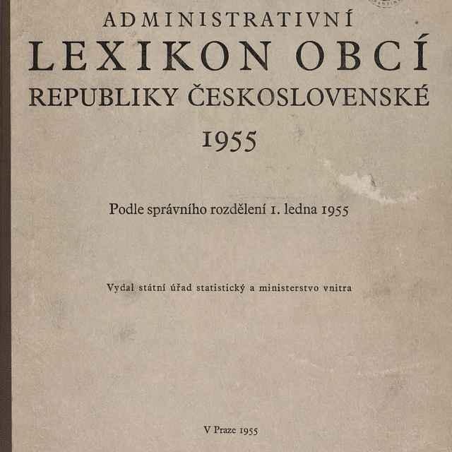 Administrativní lexikon obcí republiky Československé 1955