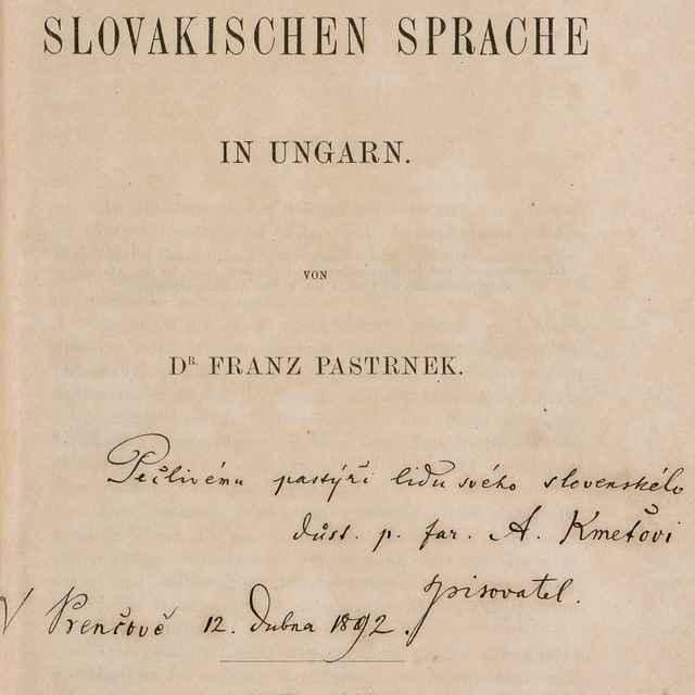 Beiträge zur Lautlehre der Slovakischen Sprache In Ungarn - Pastrnek, Franz