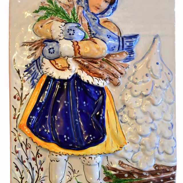 Kachlica reliéfna - Hanusková, Mária