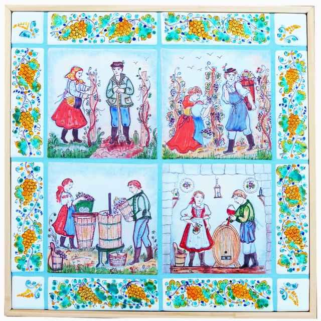 Mozaika majoliková - Hanusková, Mária