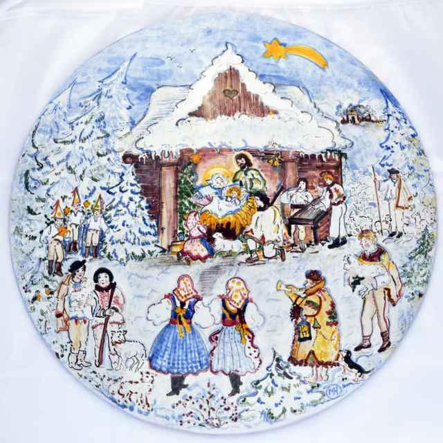 Betlehem - obrátený tanier - Hanusková, Mária