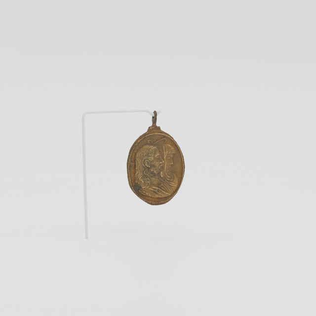 Medailón bronzový