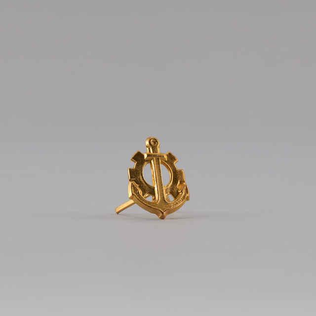 Znak rozlišovací zlatistý - ženijné vojsko a technická služba ženijného vojska (ČSĽA)