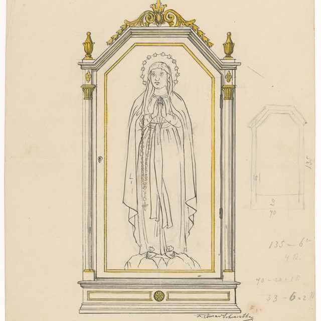 Návrh na oltárny obraz - Švestka, Konrád