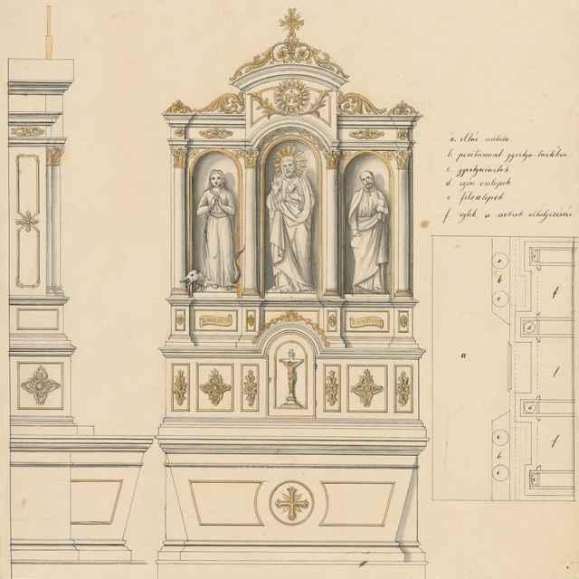 Návrh na oltár pre Františkánsky kostol v Terste - Švestka, Konrád