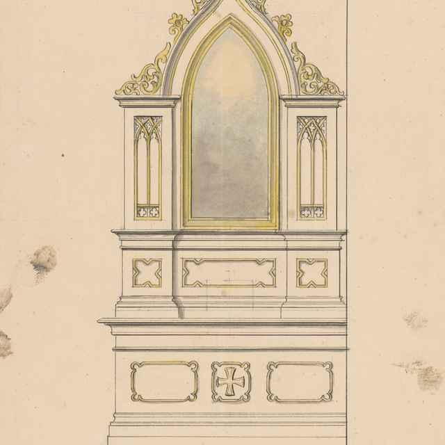 Návrh na bočný oltár v kostole v Sobranciach - Švestka, Konrád