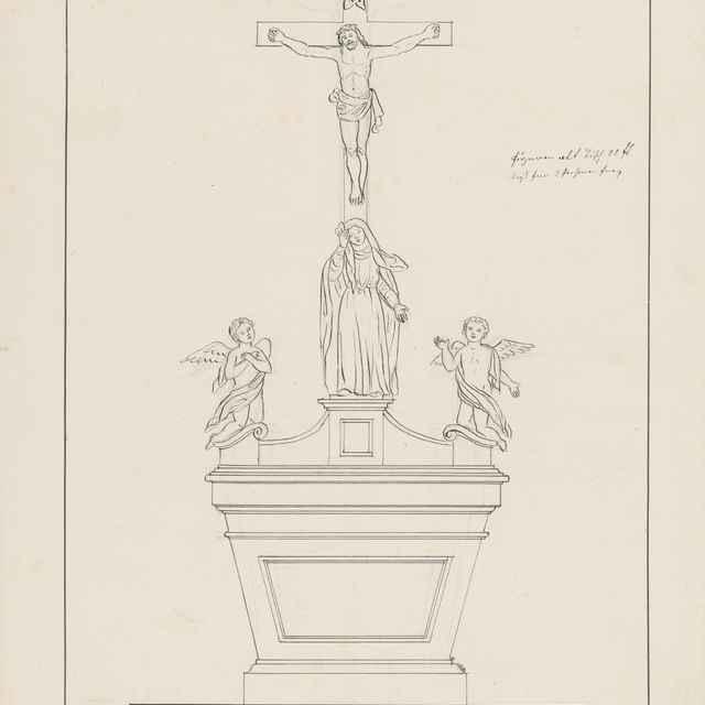 Návrh na stôl pre sanktuárium pre františkánsky Kostol sv. Jána Krstiteľa v Bardejove - Švestka, Konrád