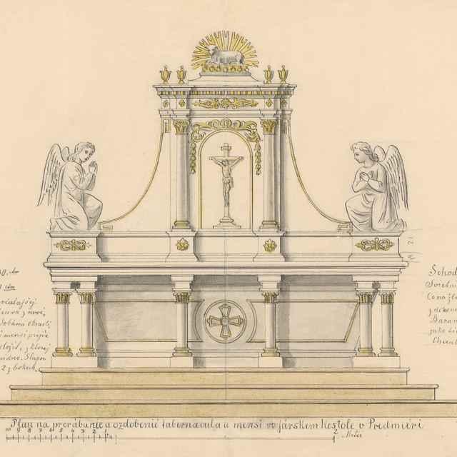 Plán na rekonštrukciu tabernákulum vo farskom kostole v Predmieri - Švestka, Konrád