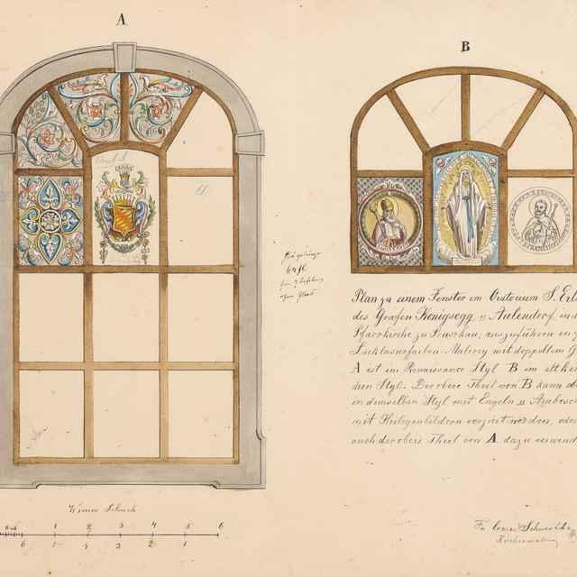 Návrh na kostolné okná – vitráže - Švestka, Konrád