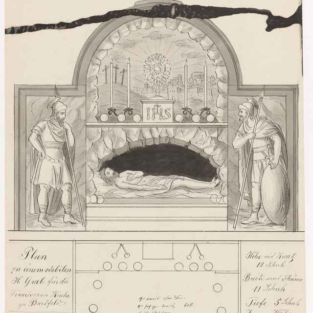 Návrh na stabilný sv. hrob pre františkánsky Kostol sv. Jána Krstiteľa v Bardejove - Švestka, Konrád