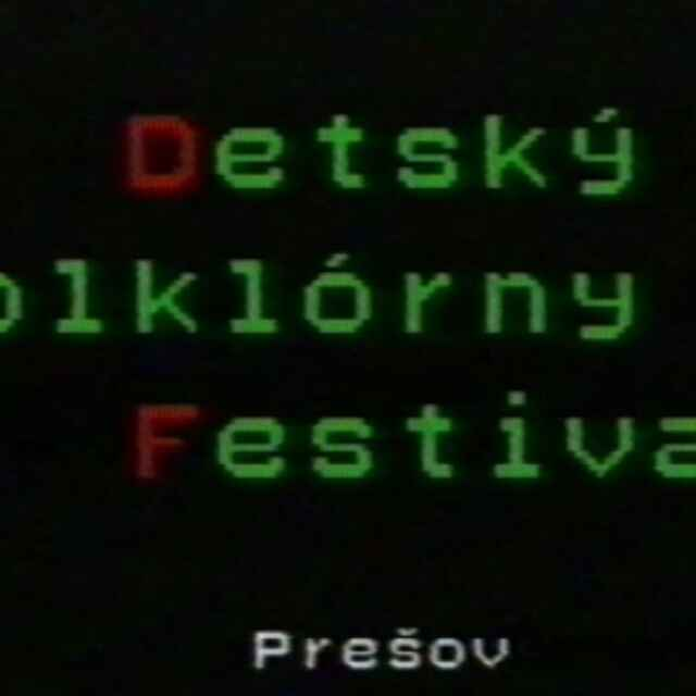 Detský folklórny festival Prešov 1995 I.