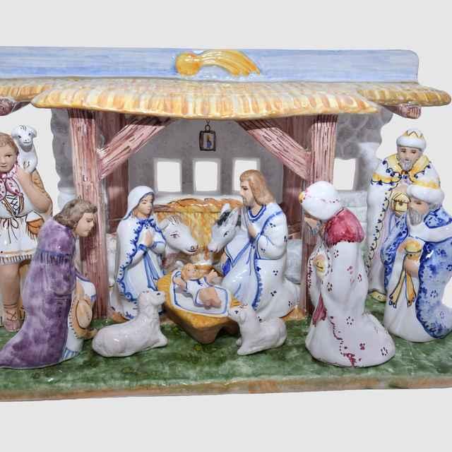 Betlehem keramický - Hanusková, Mária