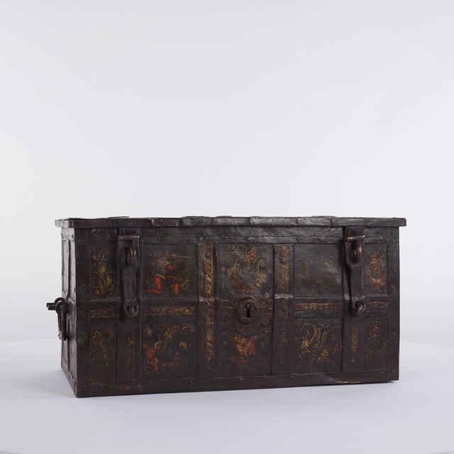 Truhlica železná s polychrómovanou výzdobou - neznámy (osobné meno)
