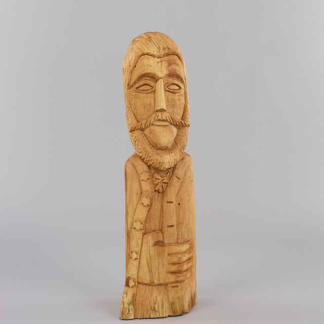 Štúr - drevená plastika neprofesionálneho rezbára Š. Hudeca