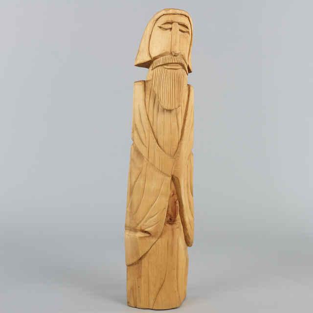 Muž s bradou, R - v.: 80 cm - plastika Valtera Grinvalského, Kežmarok, 1972
