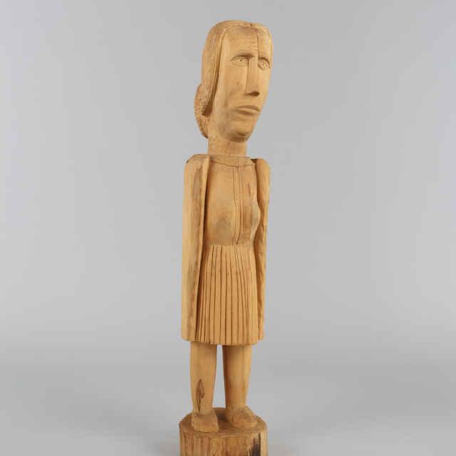 Plastika drevená - Žena, z lipového dreva, v: 80 cm
