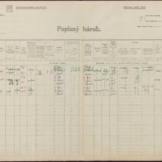 Sčítací hárok 588/401, Spišské Vlachy (Liptovský Svätý Mikuláš)