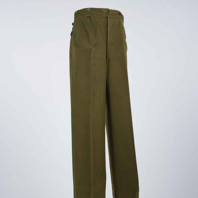 Nohavice finančnej stráže zelené s pásom