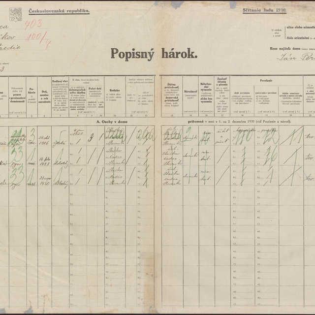 Sčítací hárok 145/100, Staškov (Čadca)