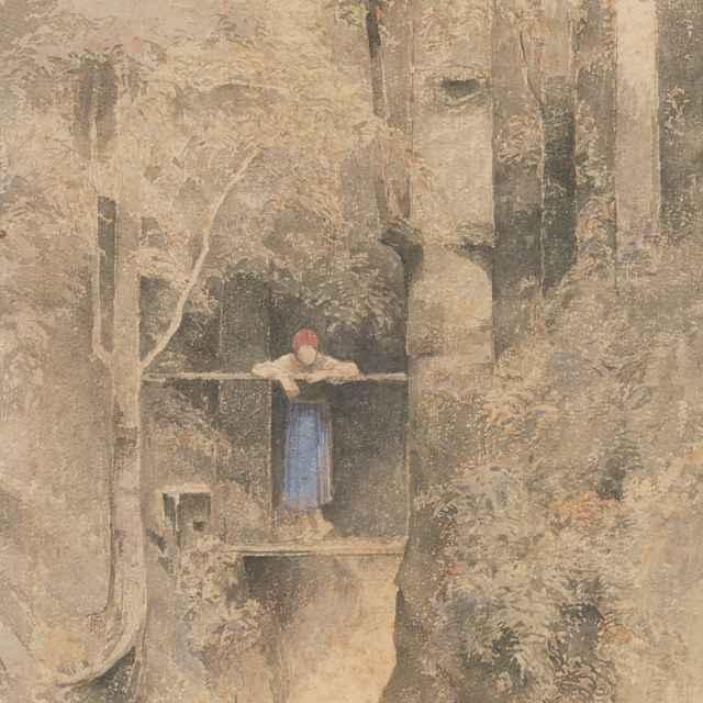 Nad vodopádom - Mednyánszky, Ladislav