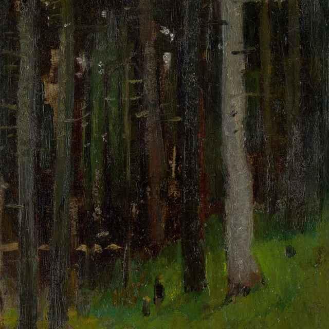 Dvaja v lese - Mednyánszky, Ladislav