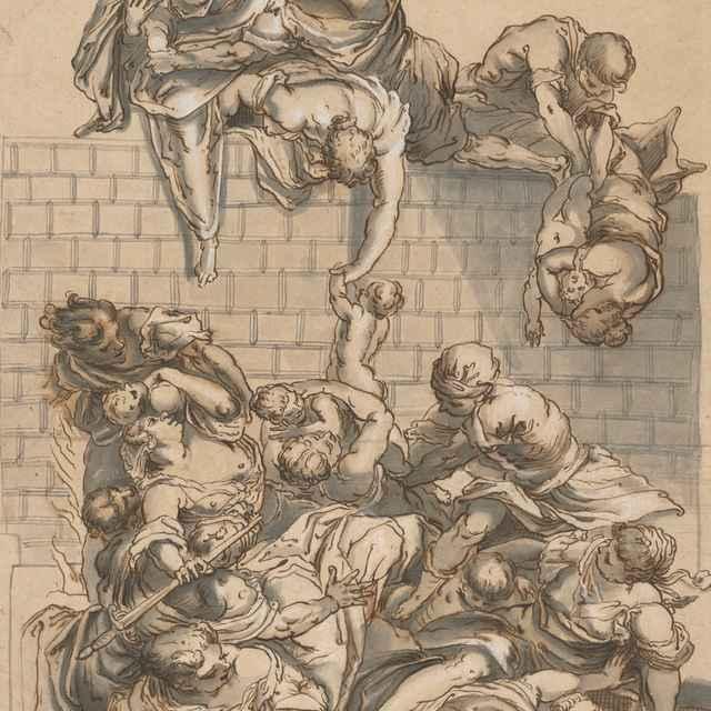 Vraždenie neviniatok - Taliansky majster z 2. polovice 16. storočia