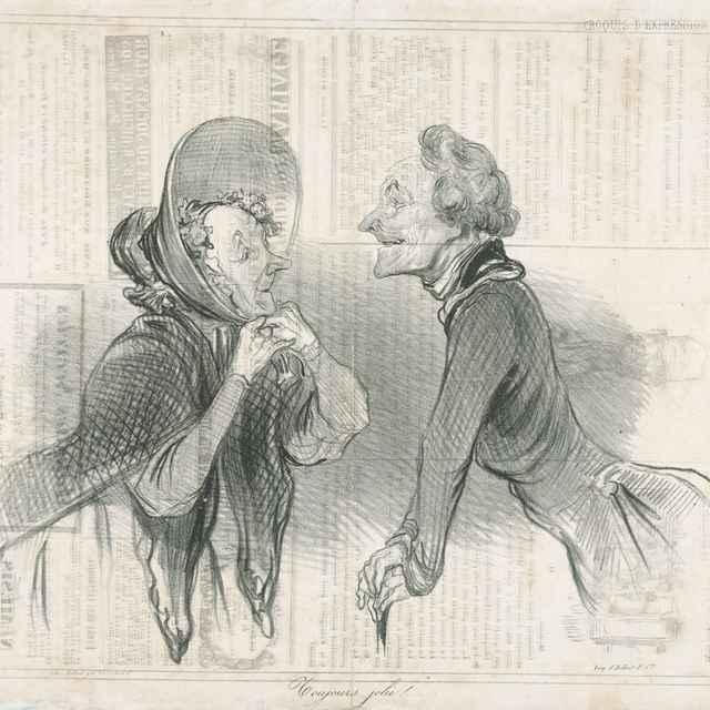 Stále rovnako krásna - Daumier, Honoré