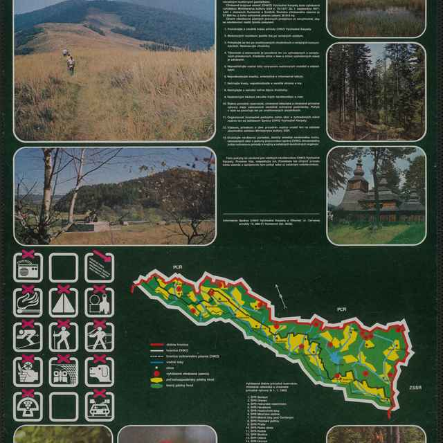 Plagát Chránená krajinná oblasť Východné Karpaty