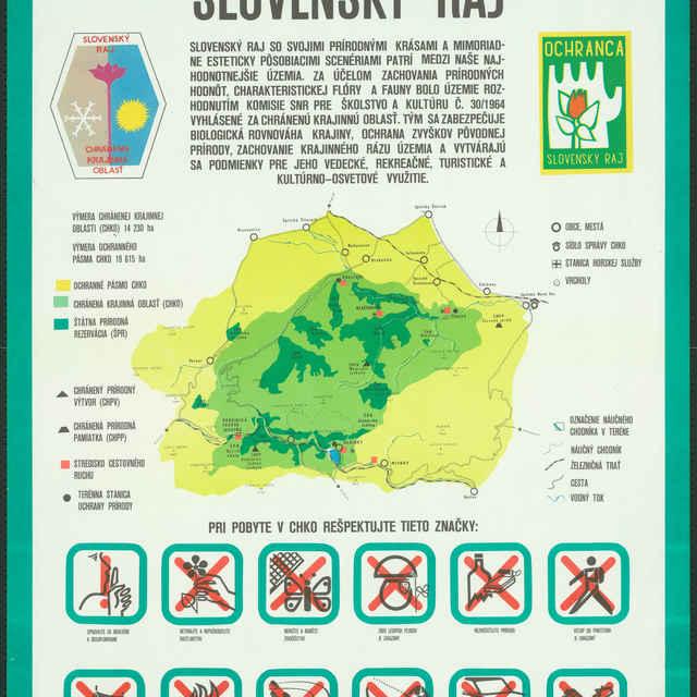 Plagát Chránená krajinná oblasť Slovenský raj