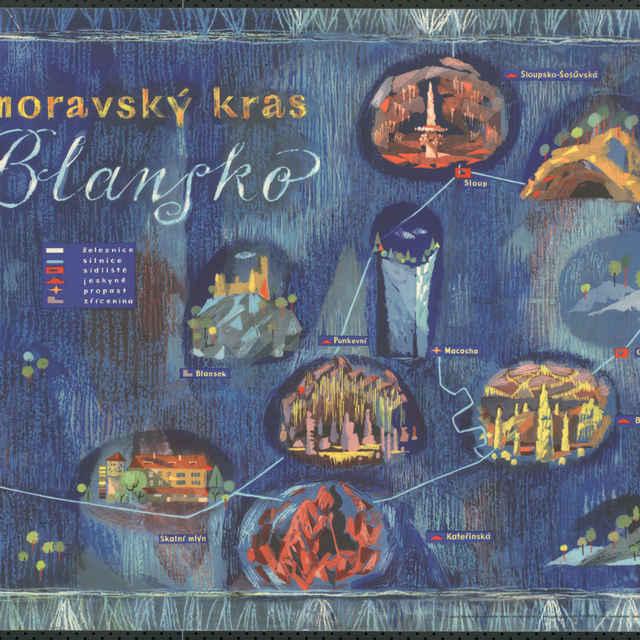 Plagát Moravský kras Blansko