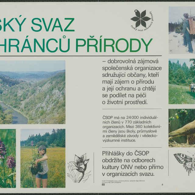 Plagát Český svaz ochránců přírody