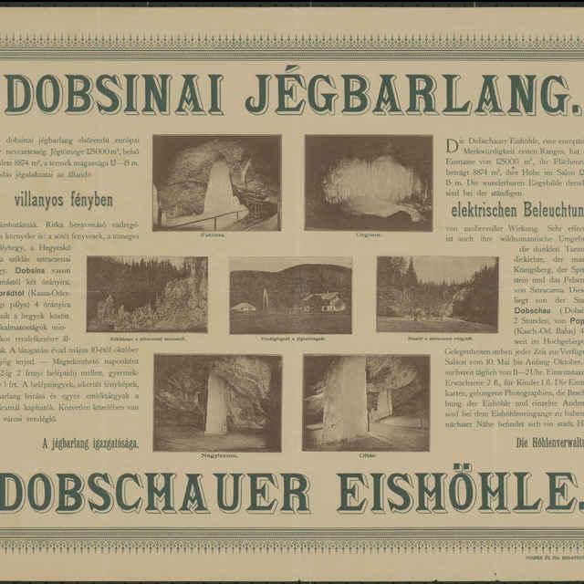 Plagát Dobsinai Jégbarlang, Dobschauer Eishöhle