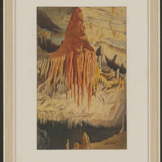 Demänovská jaskyňa slobody (akvarel)