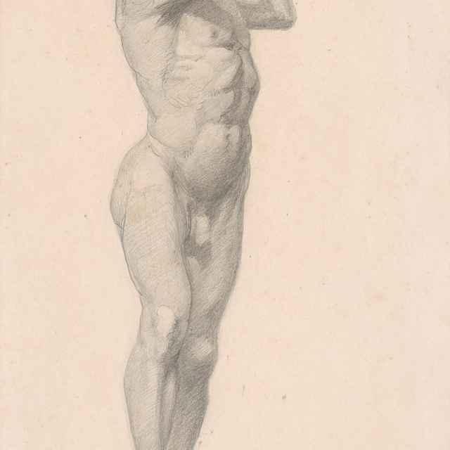 Mužský akt so zdvihnutými rukami - Katona, Ferdinand