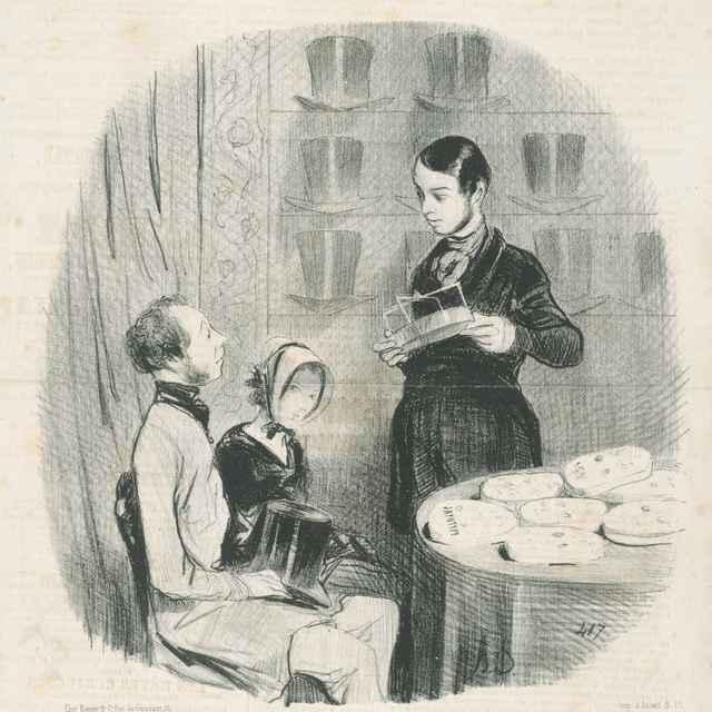 Manželské mraky - Daumier, Honoré