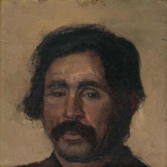 Fragment štúdie cigánskej hlavy - Mednyánszky, Ladislav