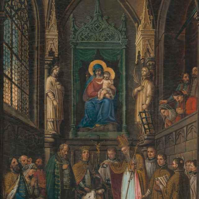 Korunovácia uhorského panovníka (Ferdinand V. ?) - Stredoeurópsky maliar z 1. polovice 19. storočia