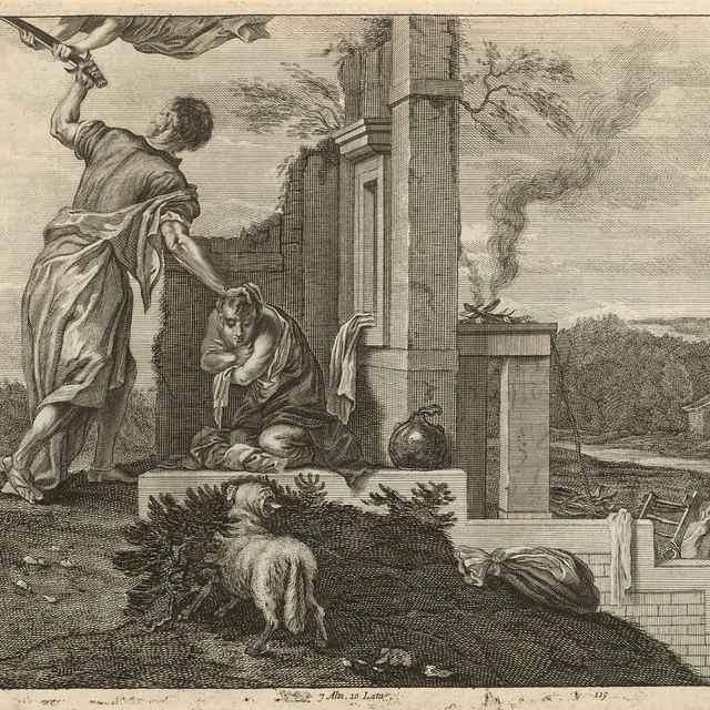 Abrahám obetuje Izáka - Veronese, Paolo