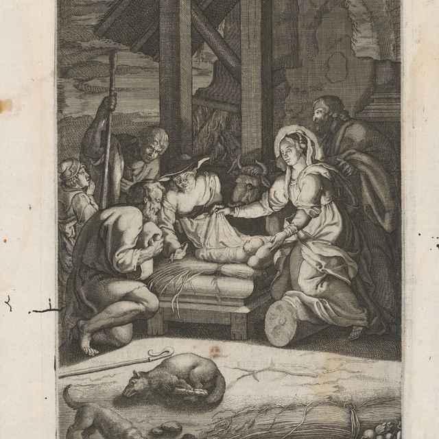 Klaňanie pastierov - Stredoeurópsky grafik zo 17. storočia
