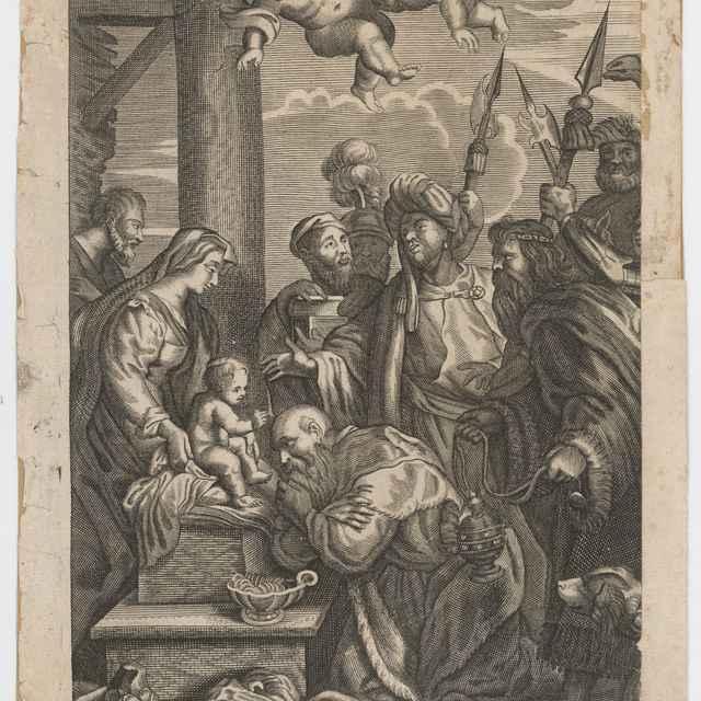 Klaňanie pastierov a kráľov - Stredoeurópsky rytec zo 17. storočia