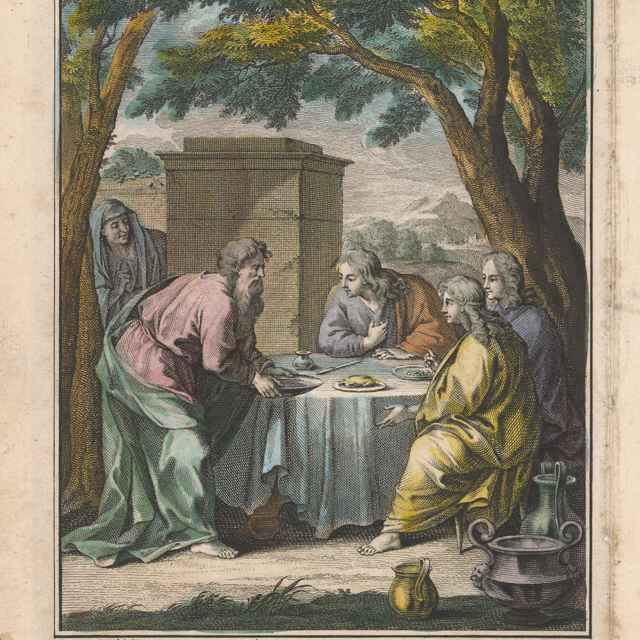 Abrahám hostí troch anjelov - Punt, Jan