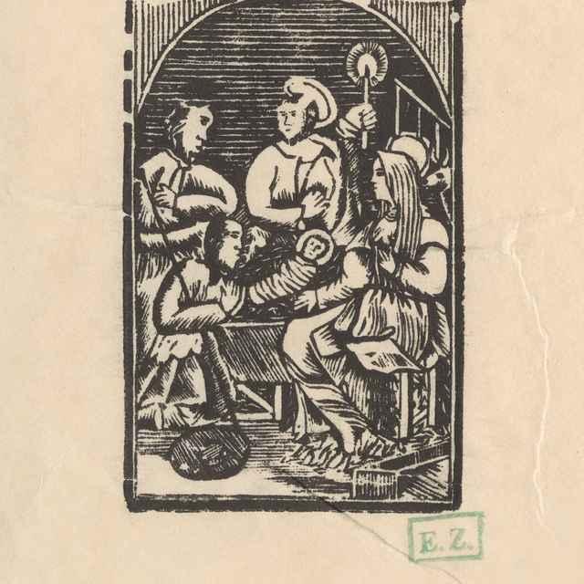 Klaňanie pastierov - Provinčný grafik, pravdepodobne rezbár