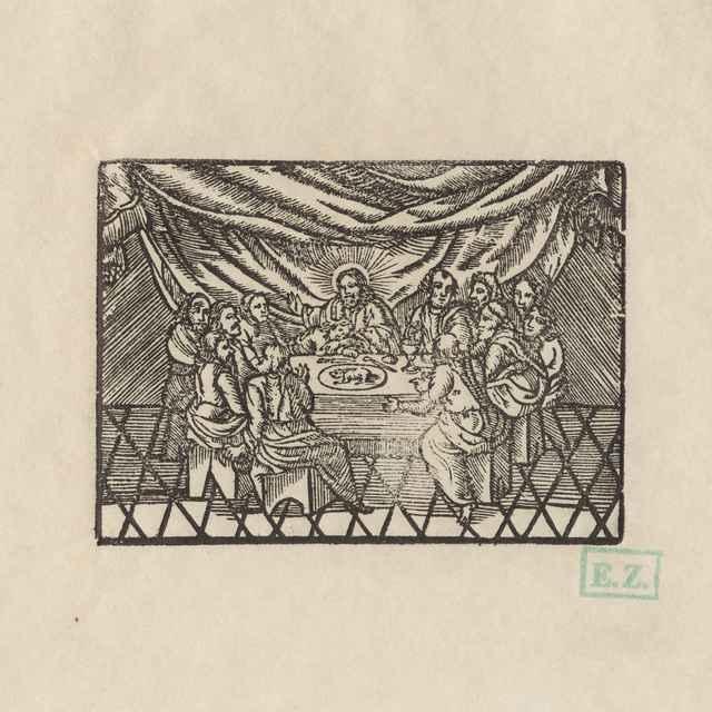 Posledná večera - Remeselný grafik knihy Ržebřjk duchownj