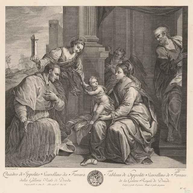 Madona so svätcami - Bacciarelli, Marcello