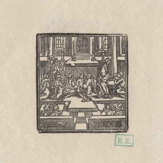 Prijímanie chleba a vína - Provinčný, pravdepodobne olomoucký tlačiarenský remeselník obľubujúci monogram MC