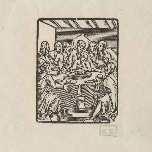 Posledná večera - Grafik manieristickej orientácie blízky ilustrátorovi Lutherovej Hauspostill z roku 1569