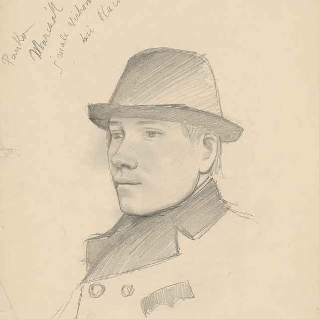 Portrét mládenca v klobúku. Panko Marcsák - Mednyánszky, Ladislav