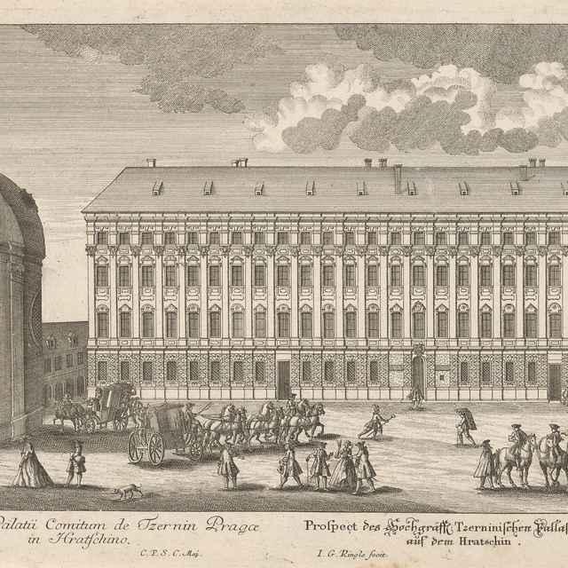 Černínsky palác v Prahe - Ringle, Johann Georg