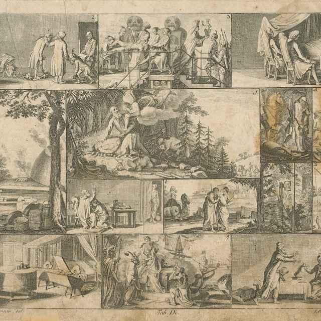 Abraham obetuje Izáka - Schellenberg, Johann Ulrich